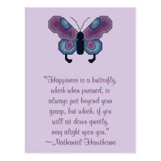 Carte postale de bonheur de papillon de Nathaniel