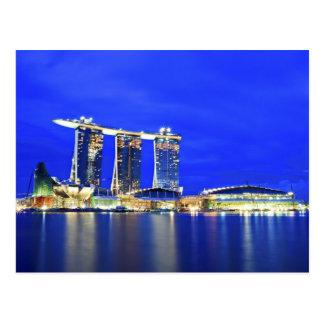 Carte postale de bord de mer de Singapour