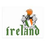 Carte postale de bouclier de l'Irlande