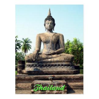 Carte postale de Bouddha Sukhothai Thaïlande