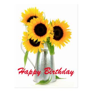 Carte postale de bouquet de tournesols de joyeux