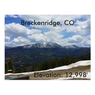 Carte postale de Breckenridge, le Colorado
