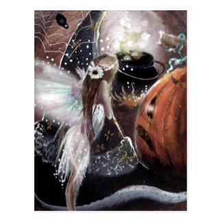 Carte postale de Brew de fée et d'une sorcière
