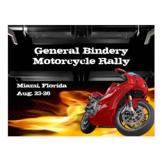 Carte postale de brûleur à vélo