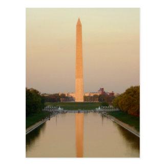 Carte postale de C.C de monument de Washington