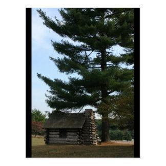 Carte postale de cabine de soldat de forge de