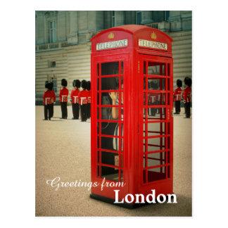 Carte postale de cabine de téléphone de Londres