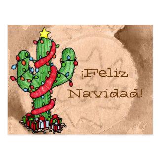 Carte postale de cactus de Noël