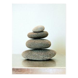 Carte postale de cailloux de zen
