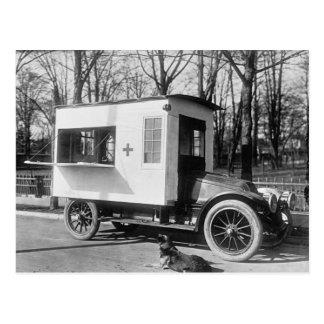 Carte postale de camion de cantine de Croix-Rouge