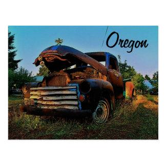 Carte postale de camion de l'Orégon