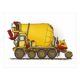 Carte postale de camion de mélangeur de ciment