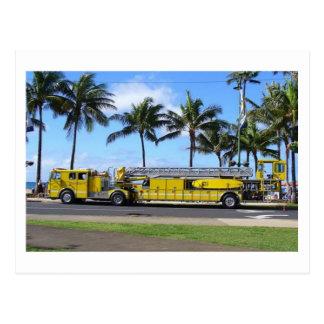 Carte postale de camion de pompiers d'Hawaï