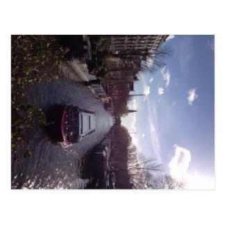 Carte postale de canal d'Amsterdam