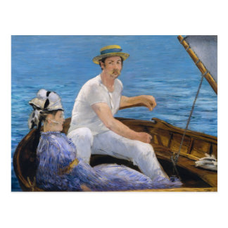 Carte postale de canotage de Manet