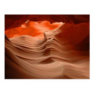 Carte postale de canyon d'antilope