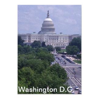 Carte postale de capital de Washington DC Carton D'invitation 12,7 Cm X 17,78 Cm