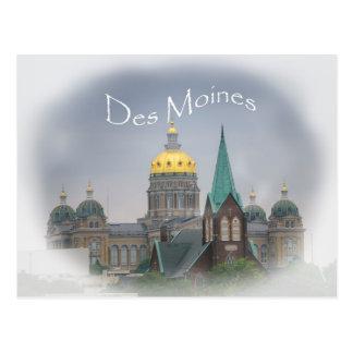 Carte postale de capitol de Des Moines