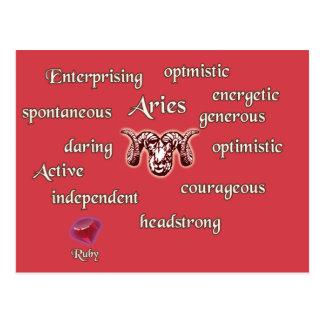 Carte postale de caractéristiques de zodiaque de