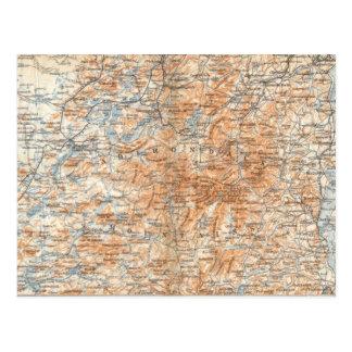 Carte postale de carte d'Adirondack