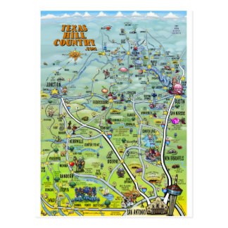 Carte postale de carte de bande dessinée de pays