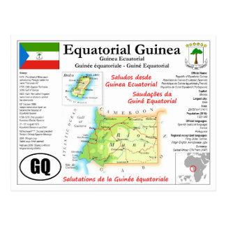 Carte postale de carte de Guinée équatoriale