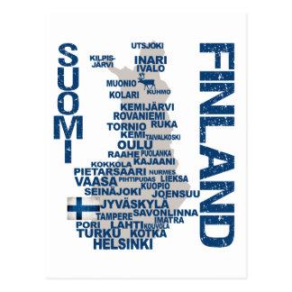 Carte postale de CARTE de la FINLANDE
