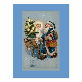 Carte postale de carte de Noël française vintage