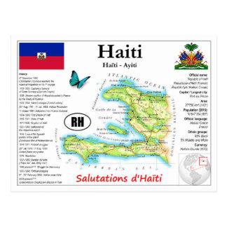 Carte postale de carte du Haïti