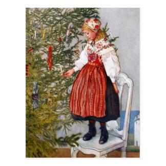 Carte postale de cartes postales d'arbre de Noël