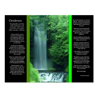 Carte postale de cascades de DESIDERATA