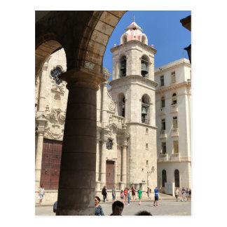 Carte postale de cathédrale de La Havane, La