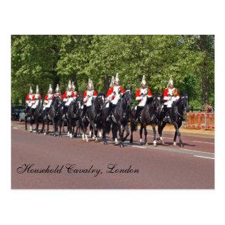 Carte postale de cavalerie de ménage