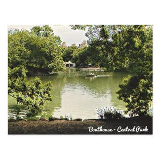 Carte postale de Central Park de Boathouse