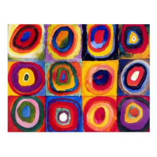 Carte postale de cercles concentriques de Kandinsk