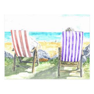 """Carte postale """"de chaises de plate-forme"""""""