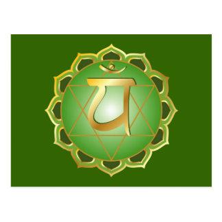 carte postale de chakra d'anahata ou de coeur