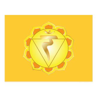 carte postale de chakra de manipura ou de plexus