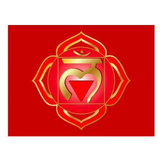 carte postale de chakra de muladhara ou de racine