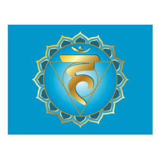 carte postale de chakra de vishuddhi ou de gorge