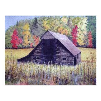 Carte postale de champ d'automne