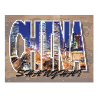 Carte postale de Changhaï, Chine