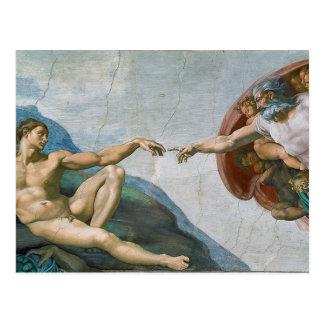 Carte postale de chapelle de Sistine de Michaël