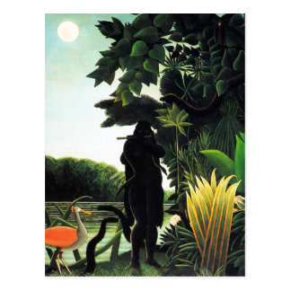 Carte postale de charmeur de serpent de Henri