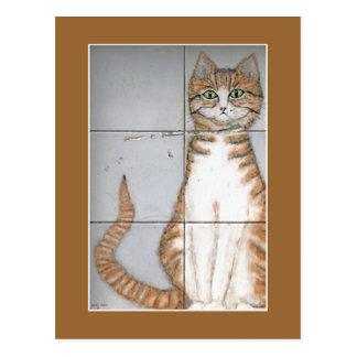 Carte postale de chat d'Amsterdam