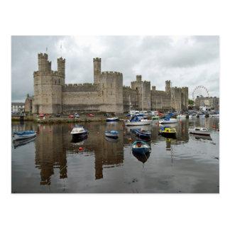 Carte postale de château de Caernarfon