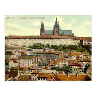 Carte postale de château de Prague