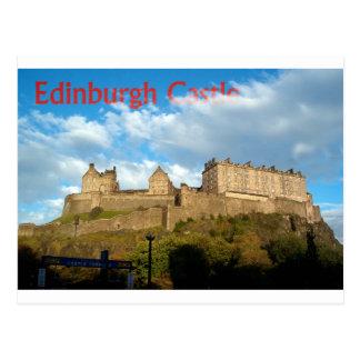 Carte postale de château d'Edimbourg