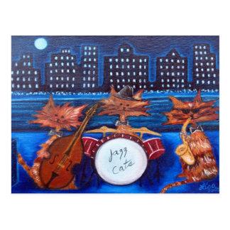Carte postale de chats de jazz