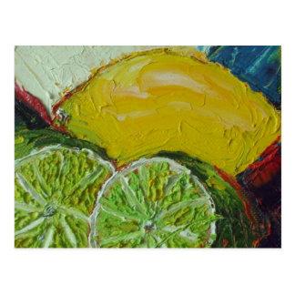 Carte postale de chaux de citron